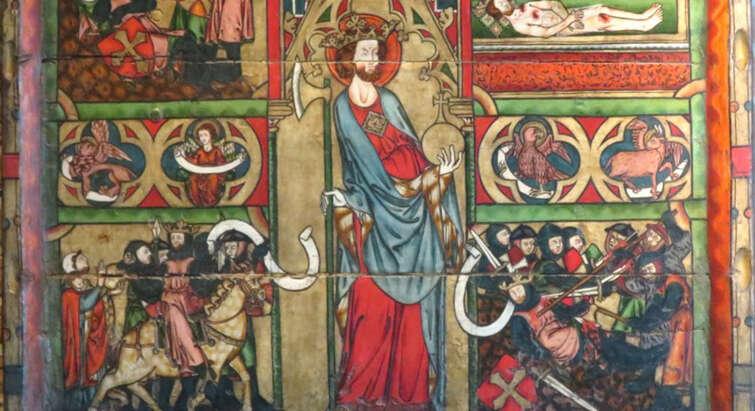 Altertavle fra Nidarosdomen med scener fra St. Olavs liv