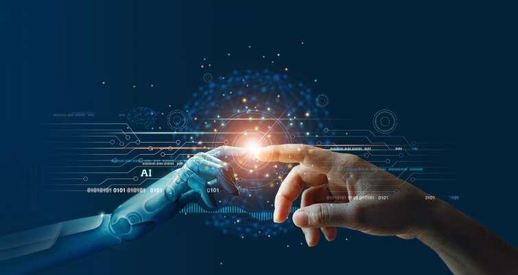 Robothånd og menneskehånd