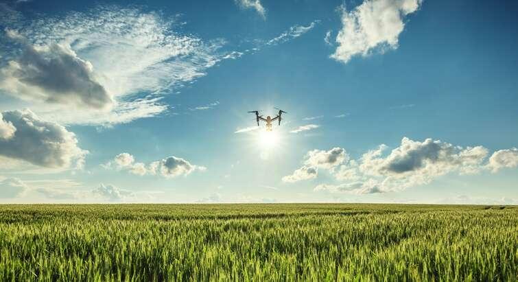 Drone over mark