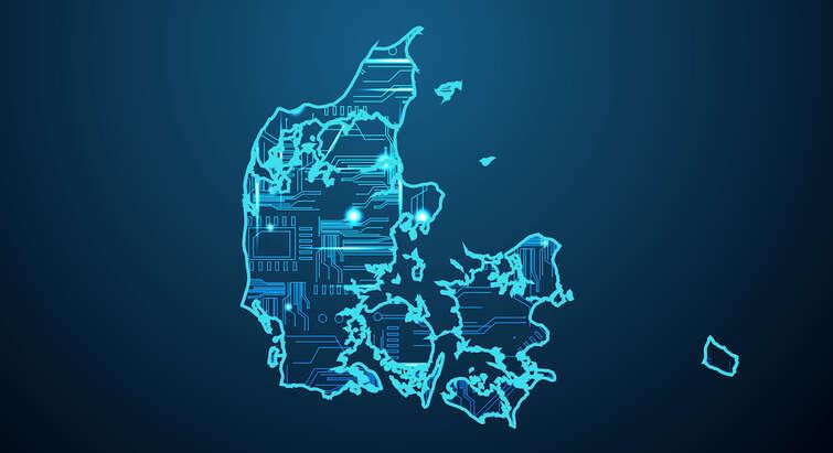 Grafisk illustration af Danmark