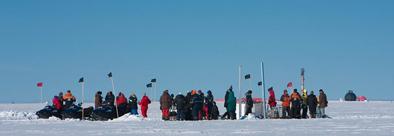 Forskere fester på isen