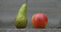 Pære og æble