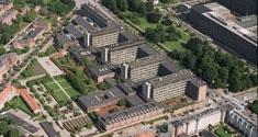 Luftfoto af Panum-komplekset