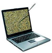 Illustration af hvordan computeren hjælper medicinalkemikeren med at finde nålen i høstakken.