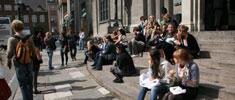 Studerende på Frue Plads