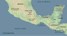 Kort over Mesoamerika