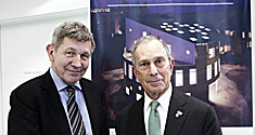 Rector Ralf Hemmingsen and Mayor Michael Bloomberg