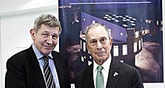 Rektor Ralf Hemmingsen og New Yorks borgmester Michael Bloomberg