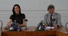 HKH Kronprinsesse Mary og rektor Ralf Hemmingsen