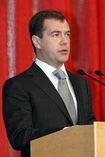 Præsident Medvedev. Foto: www.kremlin.ru.
