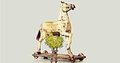 Illustration af en trojansk hest med mos