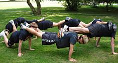 Foto fra de idrætsstuderendes studiestart på Københavns Universitet i 2009