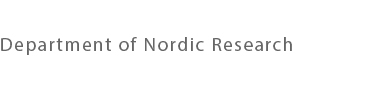 Department of Nordic Research