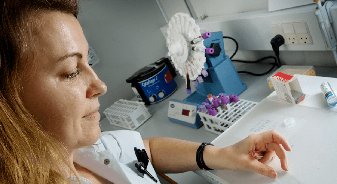 Blood smear preparation
